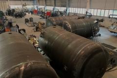 Nr 4 costruzione serbatoi diametro 3000mm lunghezza 7000mm certificati ASME U STAMP......construction tanks diameter 3000mm length 7000mm ASME U STAMP